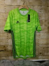 adidas Men's Adipro 19 GK Shortsleeve Jersey Neon Green Size Small Dp3131