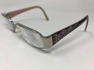 Prada Designer Eyeglasses Italy VPR68L 1BC-1O1 53-16-135 Silver/Black Pink HK05
