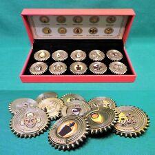 BioShock Deluxe Bronze Plasmid Pin Set of 10 Collectible Pins & Display Case NIB