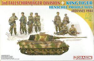 Dragon 1/72 (20mm) Sd Kfz 182 King Tiger (Henschel) & 3rd Fallschirmjäger Div.