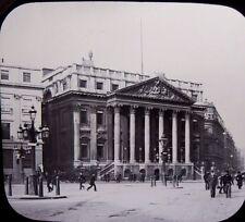 1890s MANSION HOUSE ~ London Victorian Glass Lantern Photo Slide
