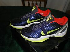 "Nike Zoom Kobe VI Supreme ""Chaos Joker"", color Ink/Volt-Dark Gray, US sz mens 12"