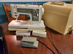 Vintage Sears Kenmore Model Sewing Machine 148.19372 W/ Case, Accessories Works!