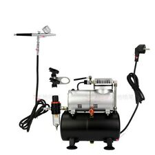 New Airbrush Air Compressor with tank Spray Brush Set Tattoo Nail Art Hobby Kit