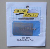 RADIATOR FACE PANEL 1:24 1:25 DETAIL MASTER CAR MODEL ACCESSORY 2490