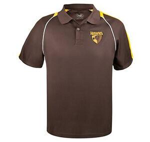 AFL Hawthorn Hawks Mens Essentials Polo Shirt Size S-2XL