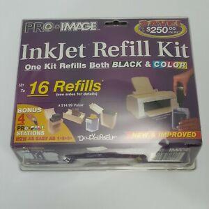 Pro-Image InkJet Refill Kit Black & Color Up To 16 Refills *NEW*