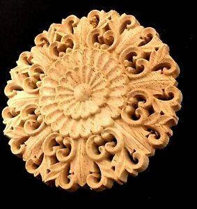 Holzrosette. Ornament  * 1st.* Rund. Möbel Verzierungen. Barock. Rosette