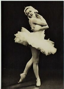 Galina Ulanova BALLERINA Russian BALLET DANCER Late 1940s NEW Reprint Postcard