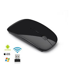 Ultra Thin USB Optical 2.4 GHz Wireless Mouse for Computer PC Laptop Desktop