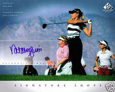 Natalie Gulbis signed Upper Deck photo 8 X by 10 COA