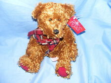 Russ Berrie Teddy Bear With Scarf 99248 Collectable RARE Present gift