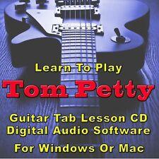 TOM PETTY Guitar Tab Lesson CD Software -15 Songs