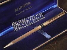 AURORA MARCO POLO PENNA A SFERA IN ARGENTO 925 E LACCA BLU +GAR+BOX Sterling pen