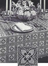 Vintage Crochet PATTERN to make Festive Pineapple Design Motif Lacy Tablecloth