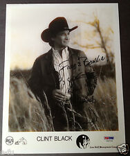 CLINT BLACK Signed Photo to Bonnie Owens PSA/DNA Auto Certified Autograph