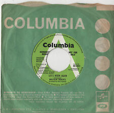 "Malcolm Roberts Lets Begin Again 7"" Sgl 1972 / DEMO"