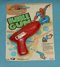 vintage Gordy THE AMAZING SPIDER-MAN BUBBLE GUN MOC rack toy