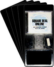"(100) CDNS13BK40 Tall Black CD Long Box Divider Cards Heavy Duty 6""x13.5"" 40 Mil"