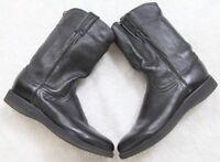 Justin Women's Dress Boots Black Leather Western Size 7.5 Seven 1/2 Vibram Soles