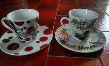 EGAN by DISNEY servizio caffe tazzine piattini ceramica Topolino Mickey Mouse