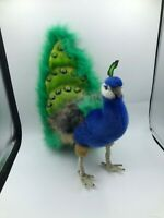 Large Hansa Aviary Collection Peacock Bird Plush Soft Stuffed Toy Animal Doll
