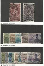 Egypt, Postage Stamp, #217-218, 267-269B, 307-314 Used, 1937-52