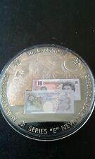 COIN MEDALLION -- £10 banknote Commemorative