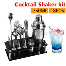 18Pcs Cocktail  Shaker Making  Barware Bar Mixing Mixer +Acrylic stand