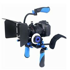 Eimo dslr rig set movie kit shoulder mount rig avec focus suivi et matte bo...