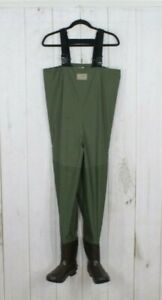 LL BEAN Men's Green Size 9 Bootfoot Fishing Chest Waders AS IS Size M