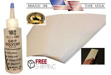 "Golf Club GRIP KIT 15 (2""x10"") Grip Tape Strips-Solvent-Instructions-Made in USA"