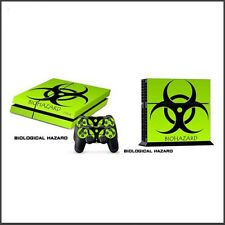 Playstation 4 PS4 Skin Vinyl Design Folie Aufkleber Schutz Sticker - biohazard -