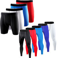 Mens Compression Shorts Pants Sports Base Layer Tights Fitness Running Trousers
