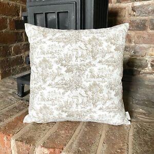 1000. Brown Toile De Jouy 100% Cotton Cushion Cover Various sizes