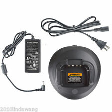 Rapid Desktop Charger for Motorola CP185 EP350 P140 P160 P180 Portable Radio