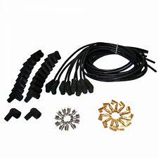 "7mm Black 90"" Universal Cloth Wrapped Spark Plug Kit VPAW2B rat street"