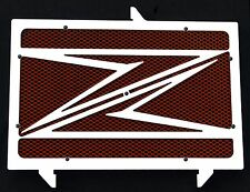 "cache / Grille de radiateur inox poli Kawasaki Z1000 07>12 ""Z"" + grillage rouge"