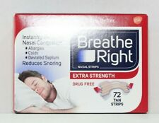 Breathe Right Extra Strength Nasal Strips 72 TAN Strips