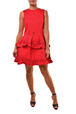 J Brand Womens Simone Rocha SR510T142 Ruffle Dress Red Size XS $565 BCF811