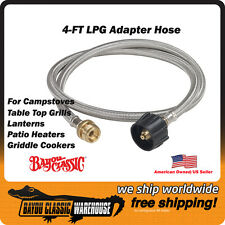 RV Propane LPG Adapter Stainless Steel 4-Foot Hose for Connecting Accessories