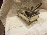 VINTAGE F.B. ROGERS SILVER CO. FOOTED BUTLER SILVERPLATED