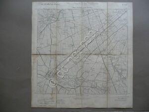 Carta Militare Villafranca di Verona IGM Povegliano Sommacampagna 1887