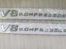 2X Side Fender Sticker Badge Emblem Letter V8 Kompressor Mercedes SL SLK CL S G