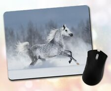 Animals ~ Horse, Dapple Grey, Snow Scene, Gift, Decor ~ Vivid Mouse Pad