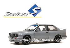 SOLIDO 1/18 SCALE 1990 GREY BMW M3 E30 DIECAST CAR MODEL S1801506