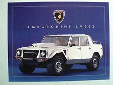 Prospetto LAMBORGHINI lm002, 1988, 2 pagine, inglese USA