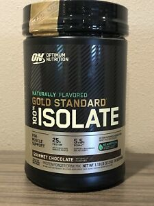 ON GOLD STANDARD PROTEIN POWDER 100% ISOLATE GOURMET CHOCOLATE 1.13 LB BB 9/2021