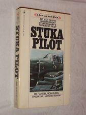 STUKA PILOT Hans Ulrich Rudel Bantam War Book 1979 pb WW2 Nazi Pilot Memoir