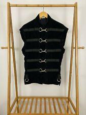 RARE Shrine Hollywood Gothic Vampire Fireman Buckle Velour Vest Jacket Size M